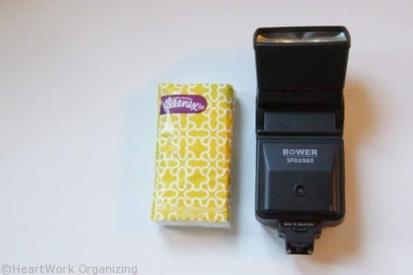 DSLR camer accessories include tissues