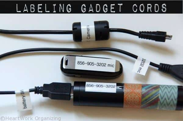 labeling gadget cords