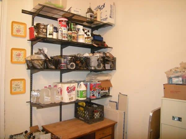 organized garage shelves