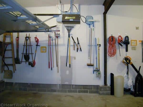 organized garage tools