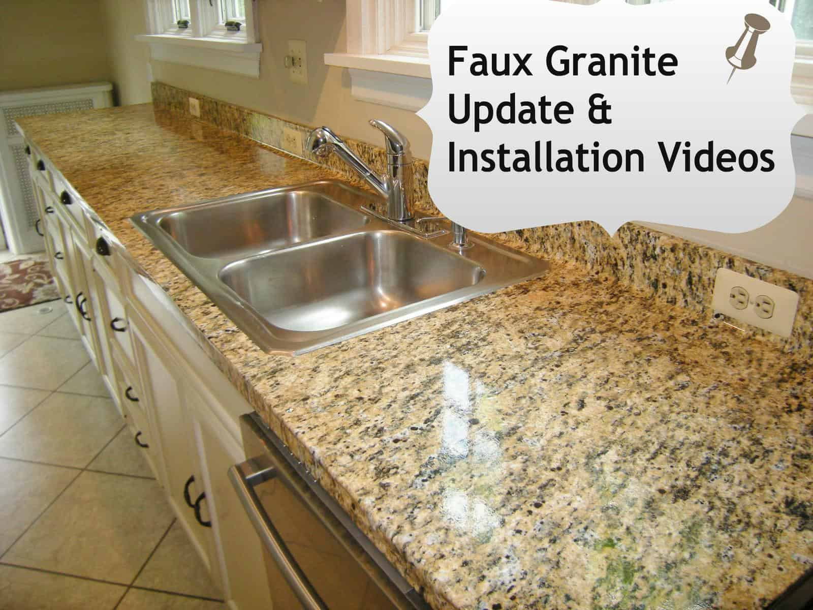 Faux Granite Countertops Cost : Faux Granite- DIY Installation Videos HeartWorkOrg.com