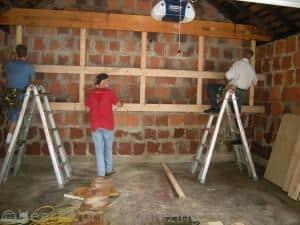 custom garage loft organizing