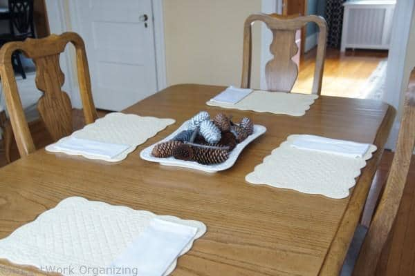 cloth napkins in the table setting.