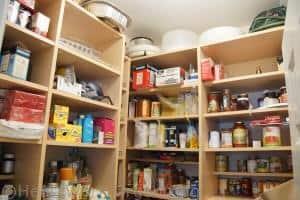 pantry organizing, storing light bulbs