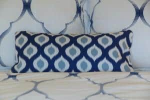 remade pillow for bedroom makeover