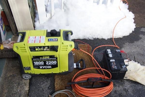 ryobi generator powers fish tanks