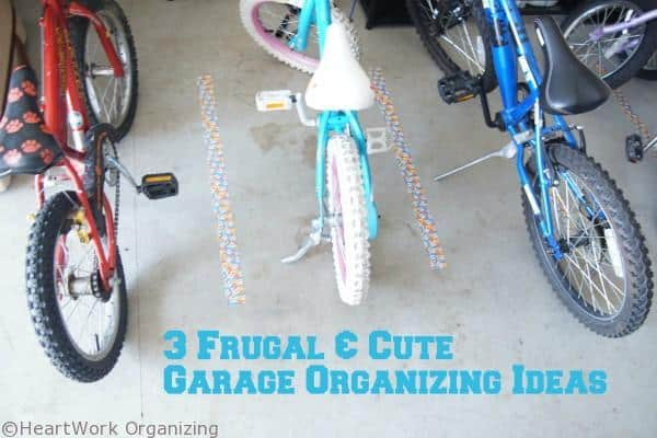 garage organizing for bikes