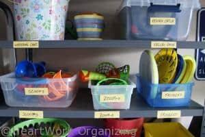 garage organizing for toys