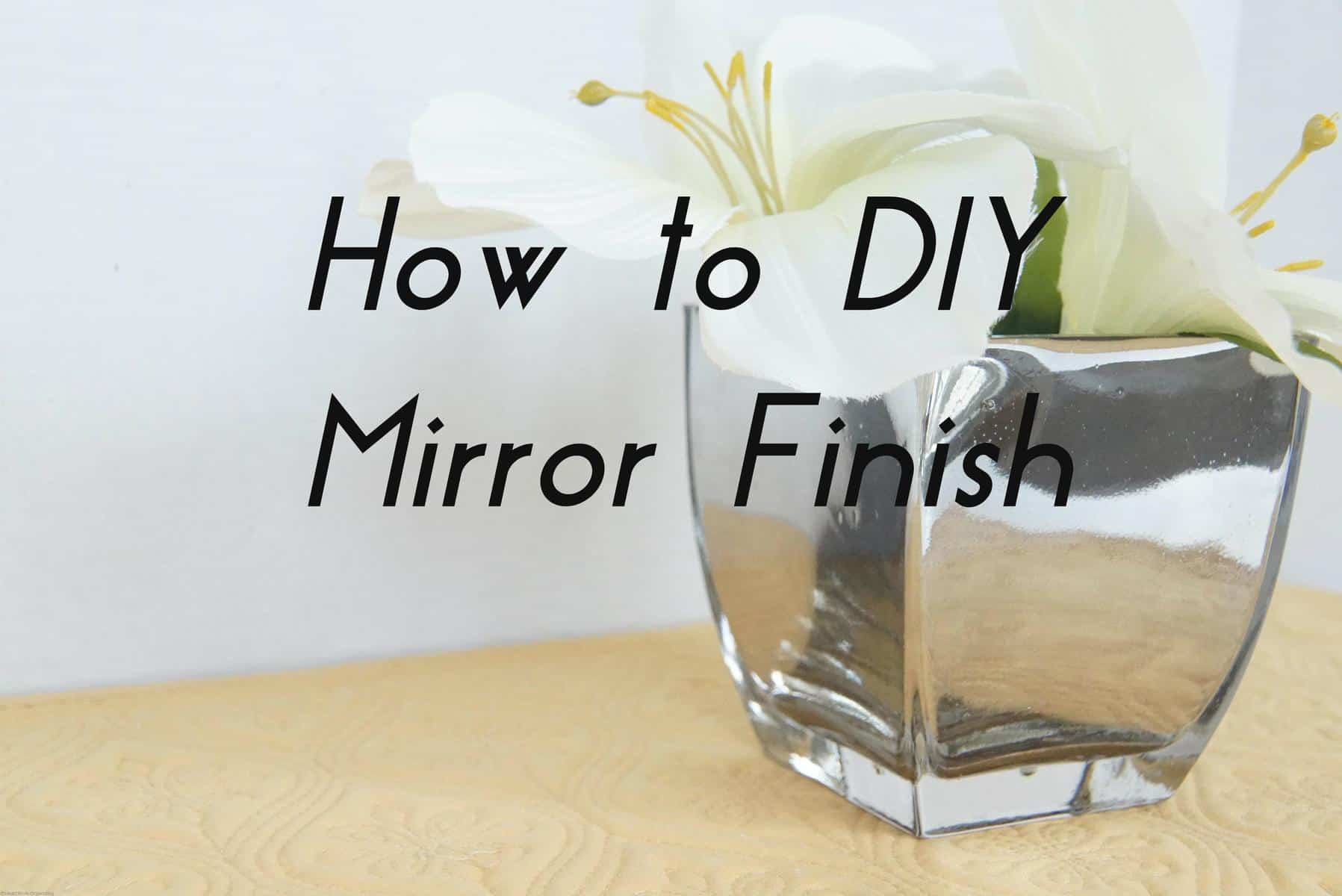 Shiny things rust oleum mirror finish giveaway for Mirror spray paint
