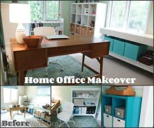Green and Blue Home Office