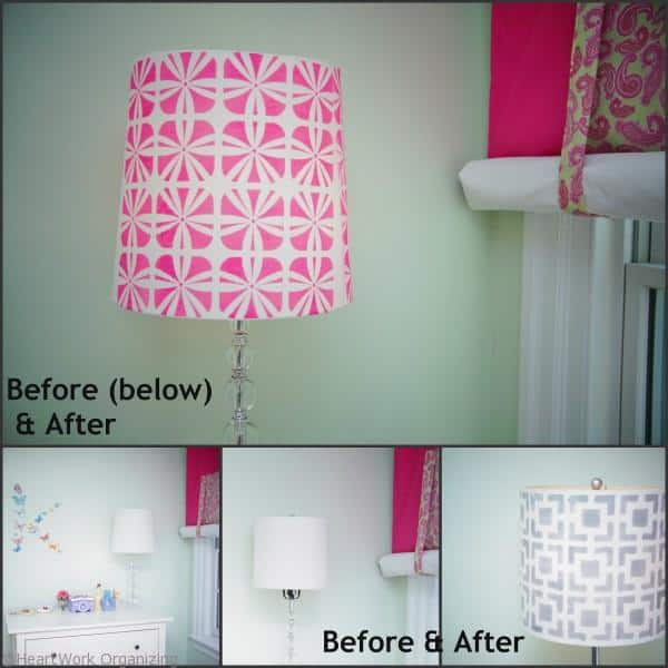 Lampshade Makeover collage