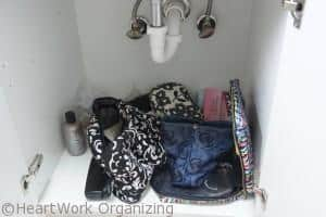 bathroom and kitchen organizing