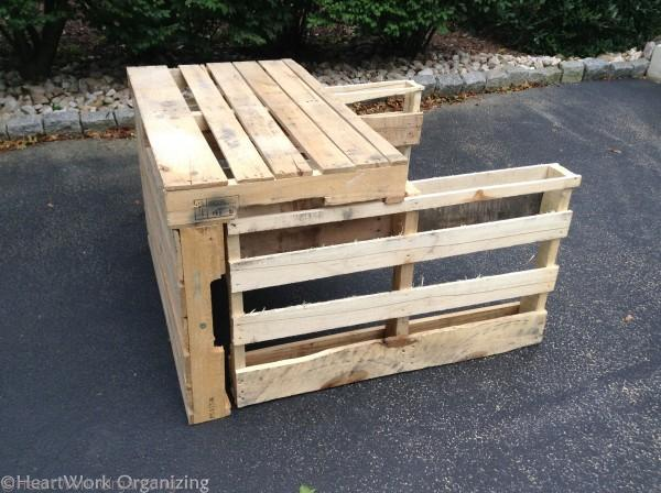 front, top, and part of sides of pallet lemonade stand