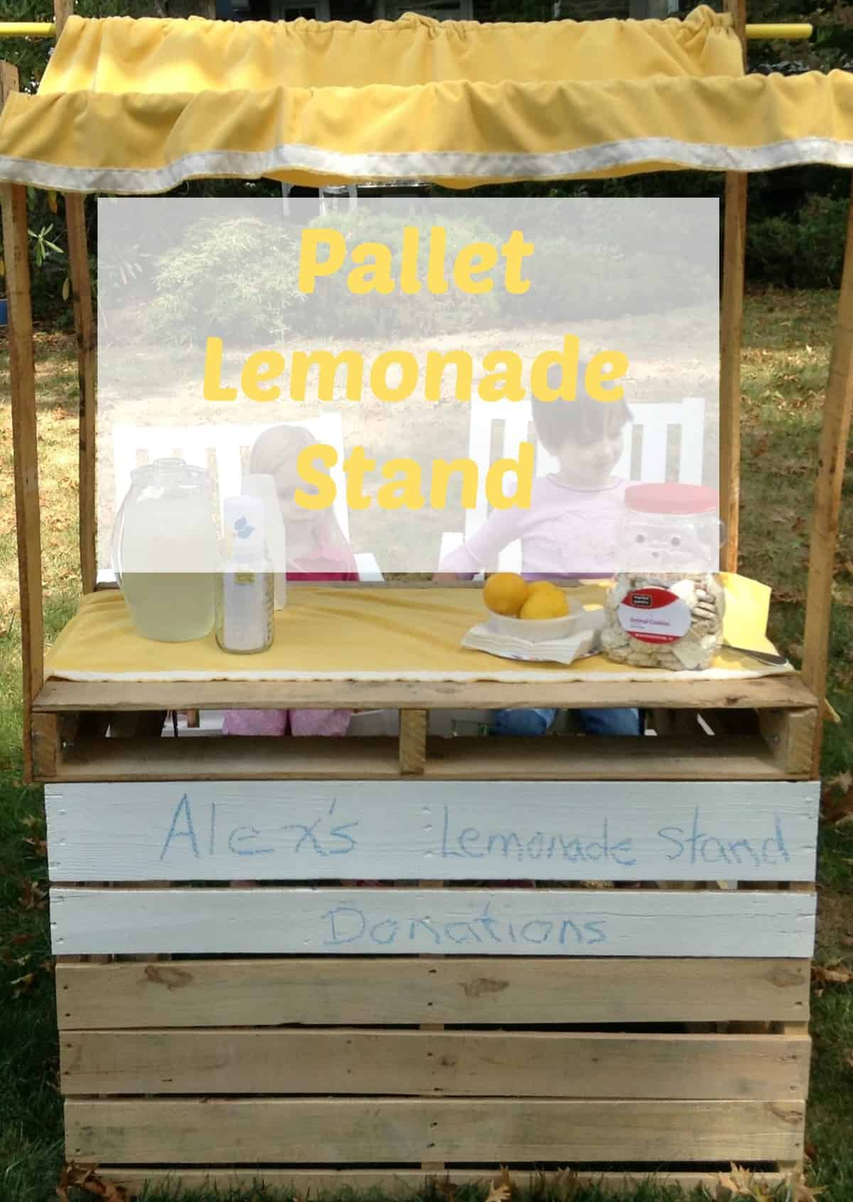 How to build a lemonade stand from pallets for How to build a tree stand from a pallet