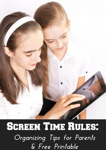 organizing strategies for your kids screen time