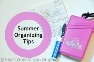 5 tips to organize summer fun