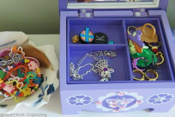 Jewelry for a kid when cleaning her room