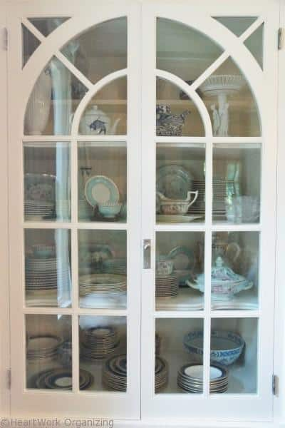 Organized China cabinet- after