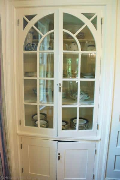 china cabinet before, doors closed