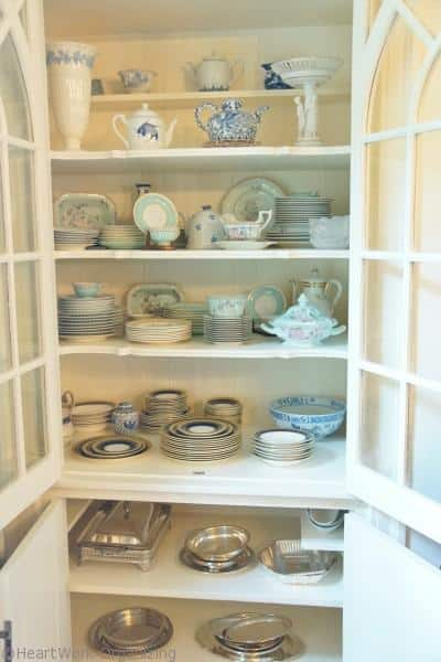 china cabinet arranged- after