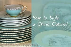 How to Arrange a China Cabinet