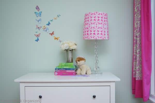 stenciled lampshade makeover