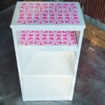 Stenciled NightStand Makeover