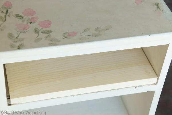nightstand makeover shelf repair