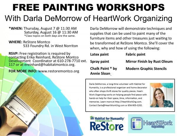 Paintin workshop at Habitat for Humanity ReStore