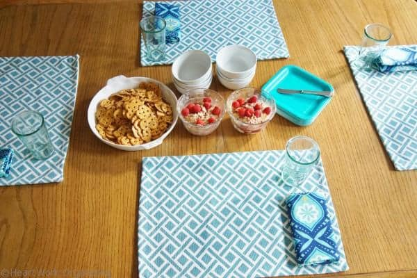 placemat tablescape red white and blue