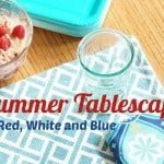 Summer Tablescape {Red, White & Blue}