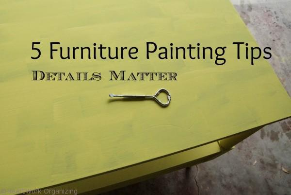 5 furniture painting tips