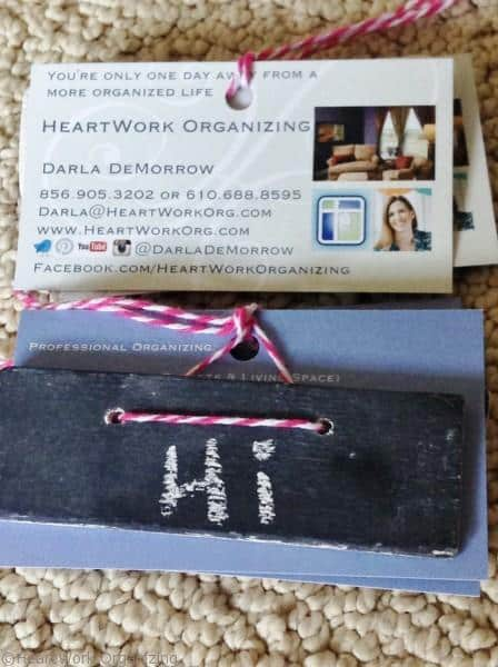 chalkboard business card tags