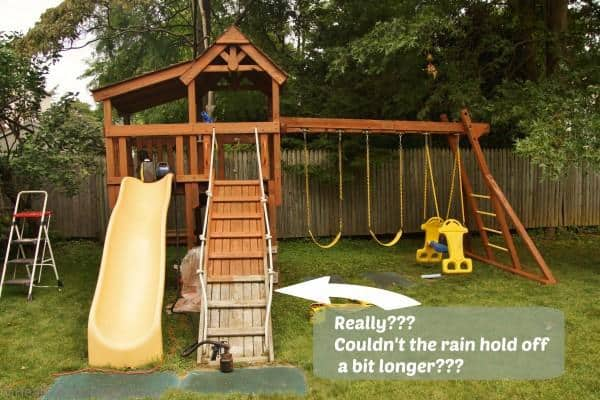 HomeRight how to stain a swing set