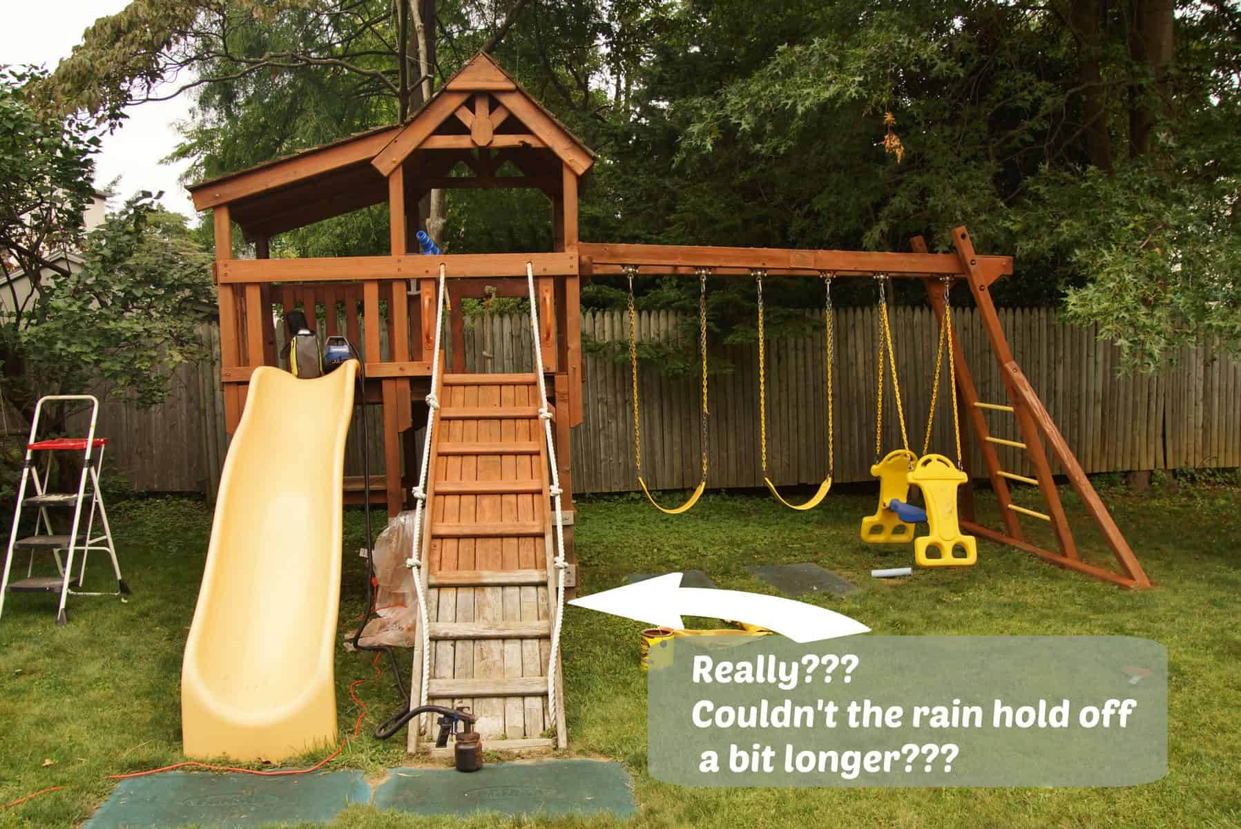how to stain a swing set u0026 homeright finish max pro giveaway