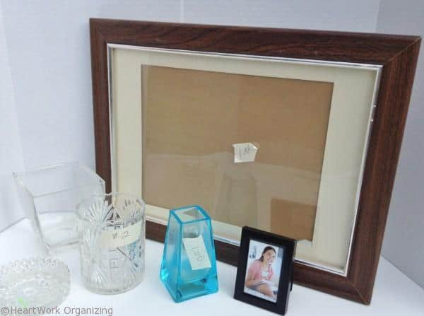 start your mirrored memo board with a thrift store frame