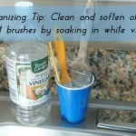 Organizing Tip: Clean Paint Brushes with Vinegar