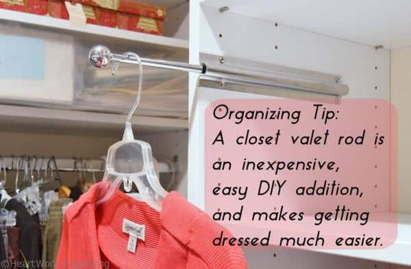 Organizing Tip: Closet Valet Rod