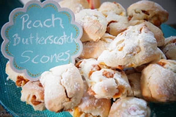Peach butterscotch scones