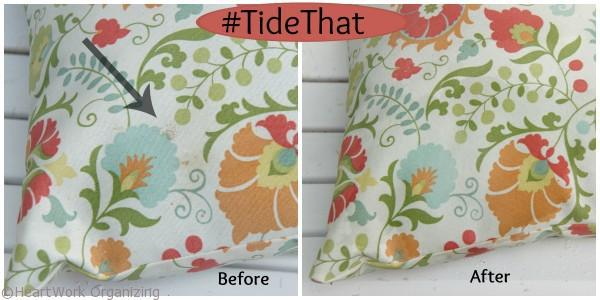 pillows cleaned with Tide Oxi