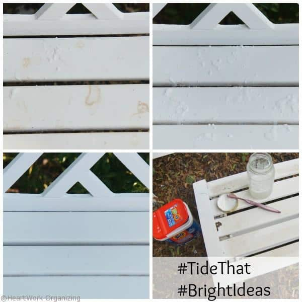 Tide Oxi cleans patio furniture