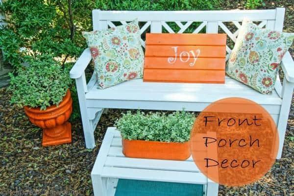 White Porch Furniture Decor