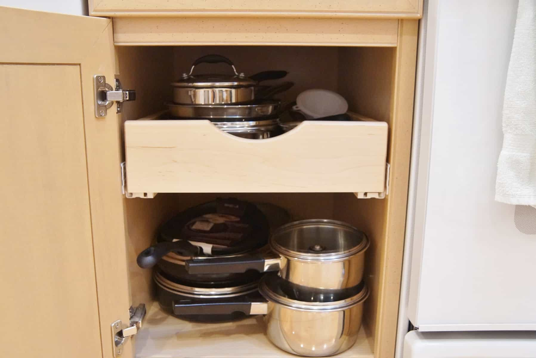 installing rolling shelves in kitchen cabinets 2 installing rolling shelves in kitchen cabinets diy