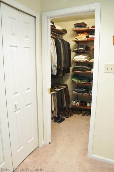 Pocket door makets a closet easier to use
