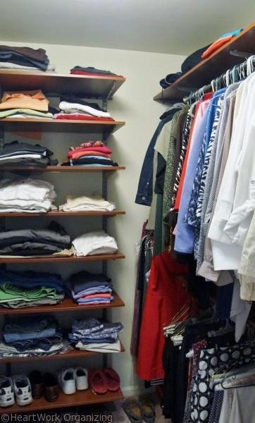 closet system for her clothes