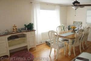 living room makeover with dining room