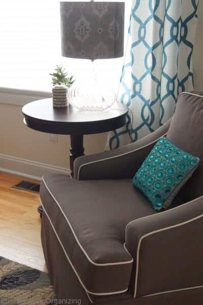 chair in living room makeover