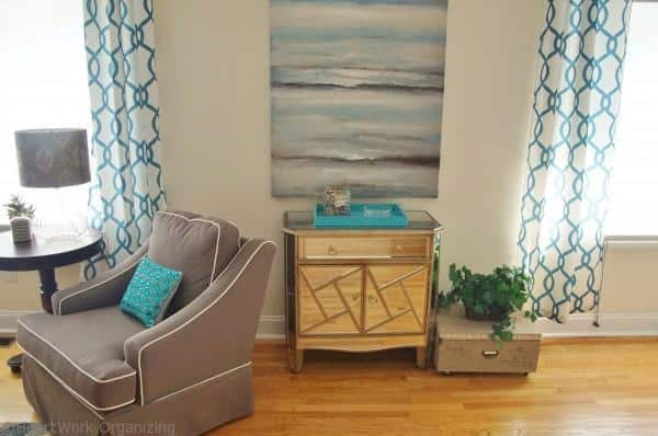 living room makeover art