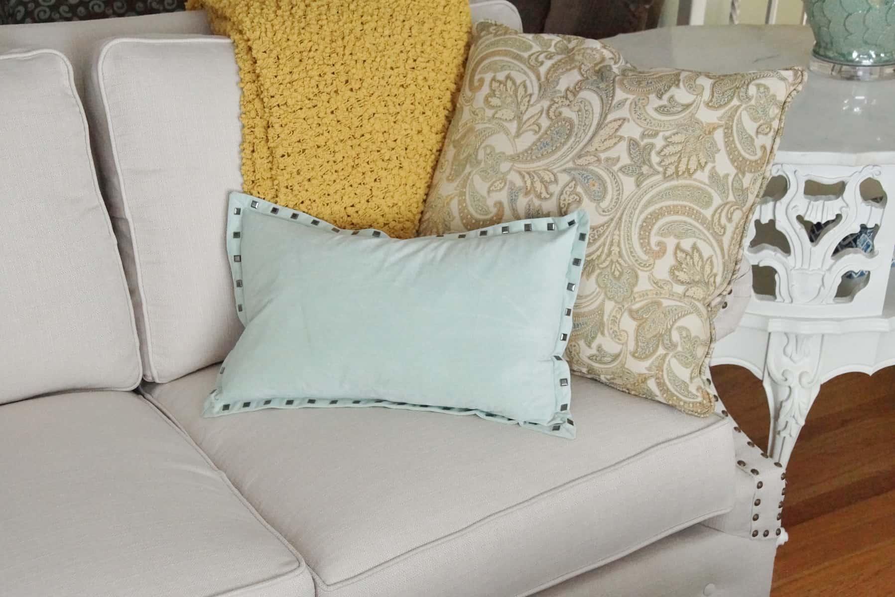 Glam Coastal Living Room Makeover