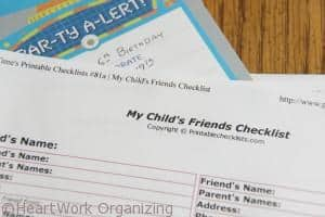 friend list in school binder